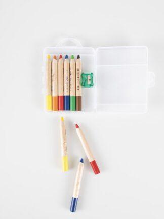 First wax crayons 6 pcs and sharpener (5015106)