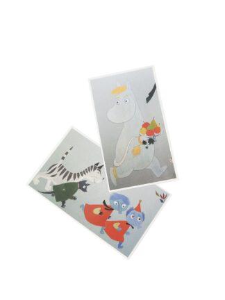 Moomin-themed postcards, 2 pcs (5012181)