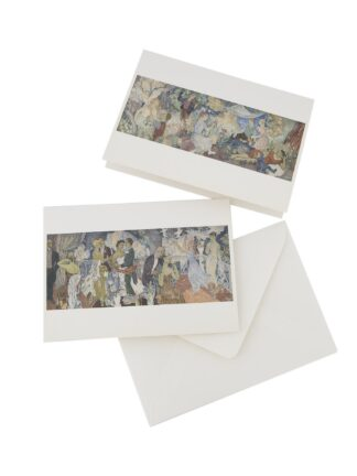 Juhlat maalla ja juhlat kaupungissa postikortit, 2 kpl (5012183)