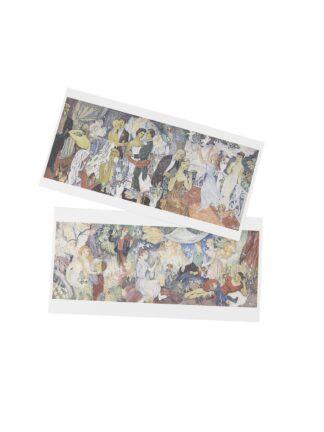 Juhlat maalla ja juhlat kaupungissa postikortit, 2 kpl (5012182)